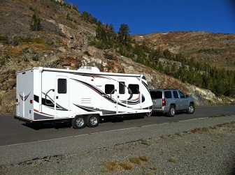 Travel Trailer on the Road Web